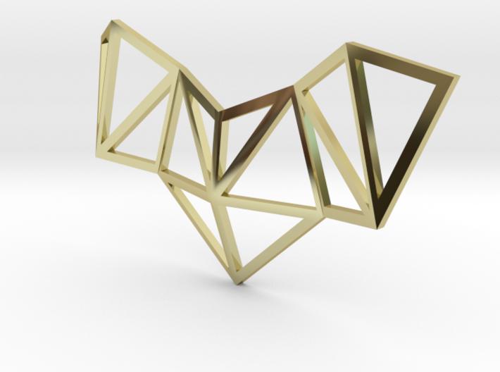 VIELECK - geometric pendant necklace 4,5 x 2,5 cm 3d printed