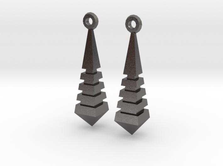 Monolith Earrings 3d printed