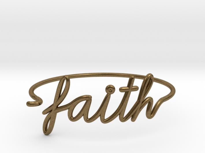 Faith Wire Bracelet 3d printed
