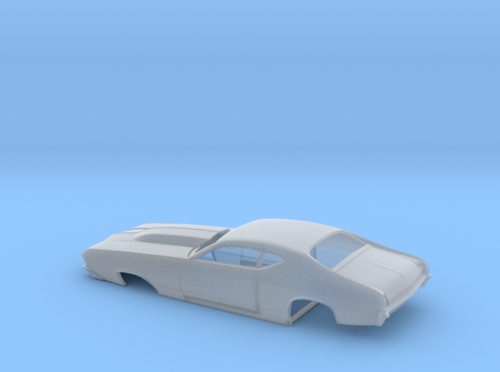 1/43 69 Chevelle Pro Mod One Piece Body 3d printed