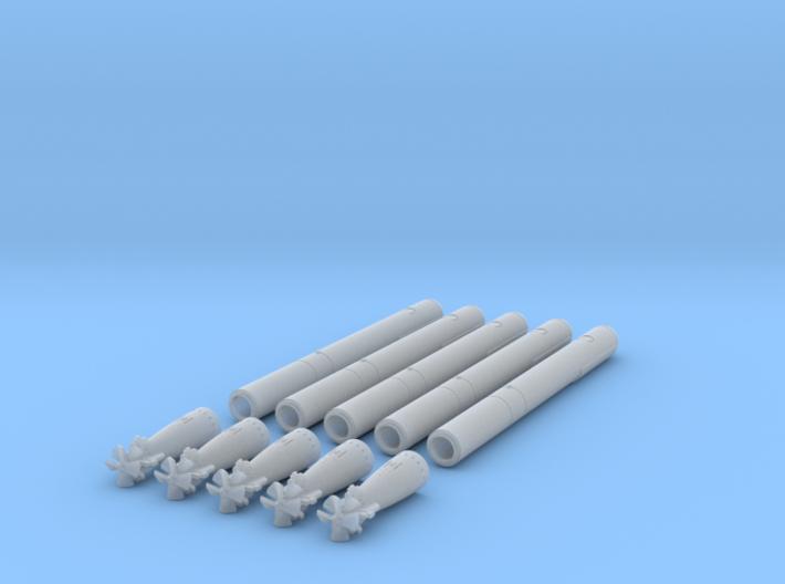1-96 Type 93 Torpedo Long Lance ALL FUD 3d printed