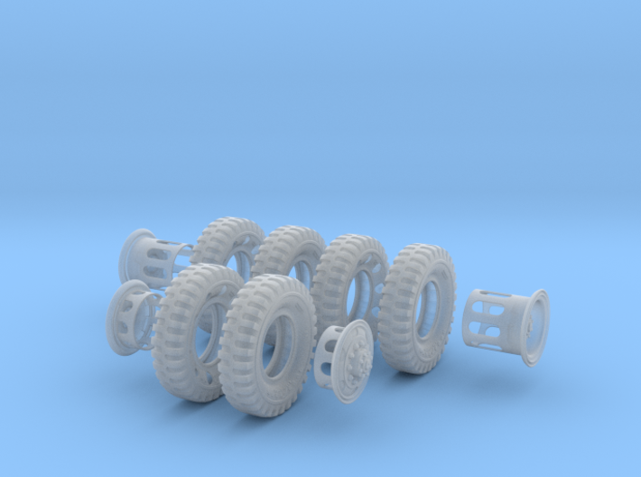 1-16 6x military Wheels 1200x20 3d printed