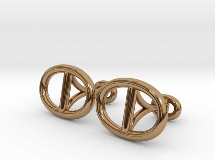Chain Cufflinks 3d printed
