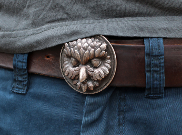 """Owliver"" Belt Buckle 3d printed"