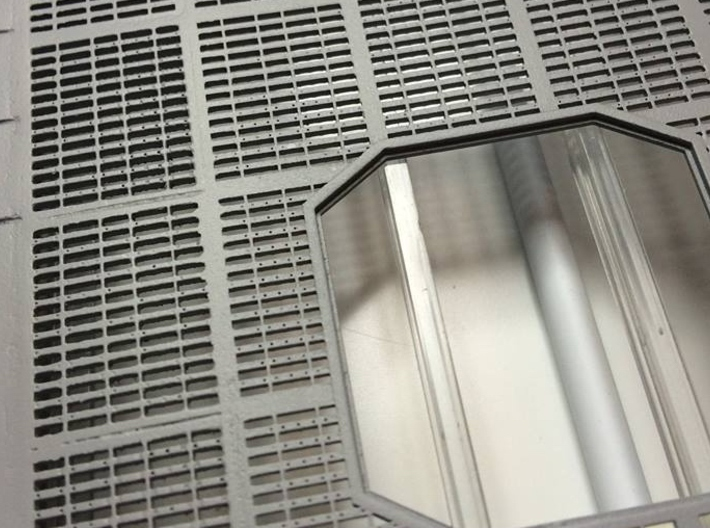 YT1300 DEAGO HALL GRILLE COMPLETE 3d printed Detail of a painted grille. Look at the detail. -Photo: D. Knight-.