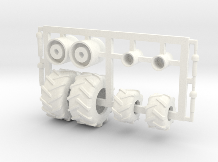 1/64 Tread Tires for 3450 TBH Air Cart 3d printed