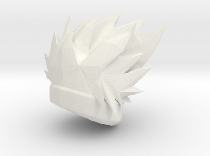 Custom Kakashi Inspired Hair for Lego 3d printed