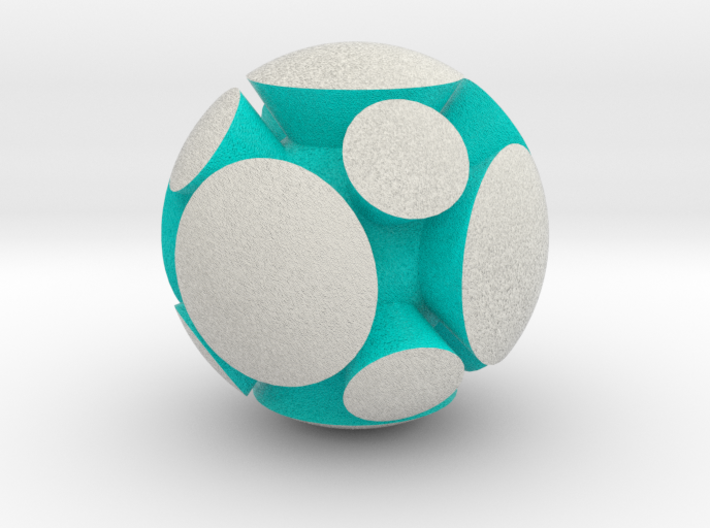 LuminOrb 2.5 - HARMONY 3d printed Shapeways render of HARMONY in Full Color Sandstone