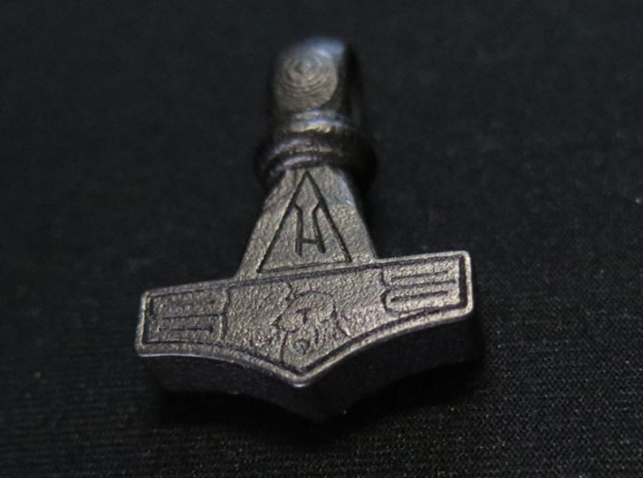 Thor's Hammer1 3d printed Polished steel surface