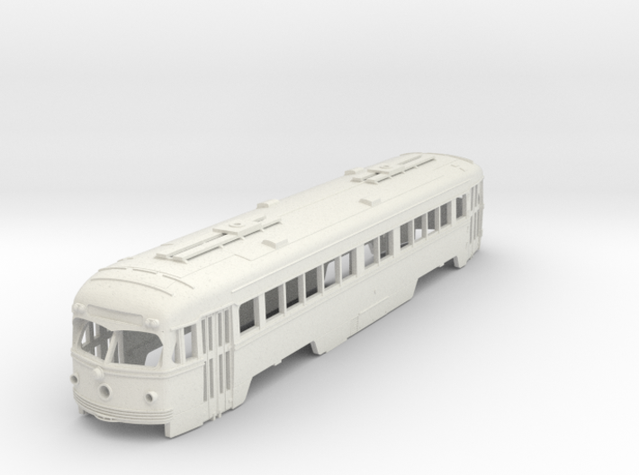 S Scale Double-End PCC Red Arrow Trolley Body 3d printed