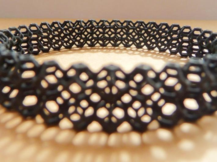 Tetradecahedron Bangle 3d printed