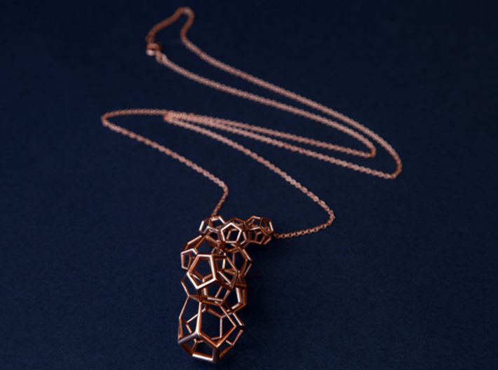 Vertical dodecahedron pendent 3d printed
