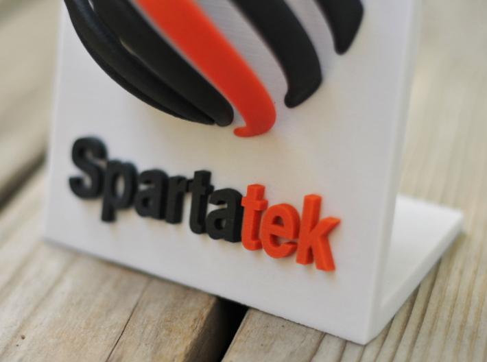 Spartatek 3D Logo 3d printed Close up- Full Color Sandstone