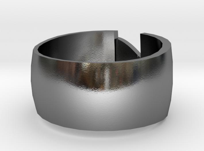 Anello con cuore a ponte  3d printed