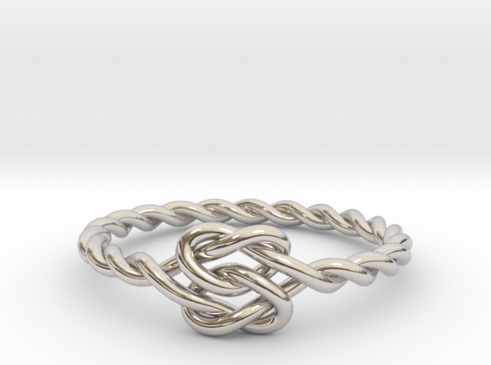 True Lover's Knot Ring 3d printed