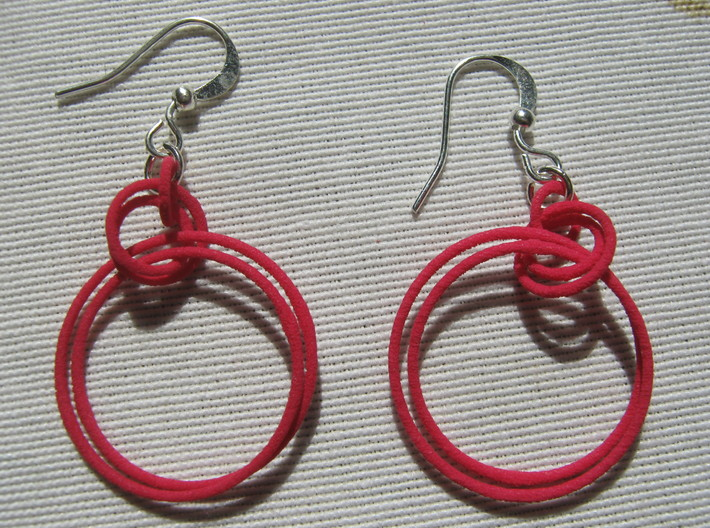 Two-Coil 1 2 Earrings 3d printed