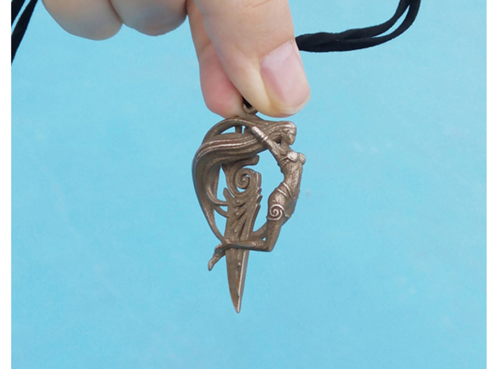 Sword Maiden Pendant 3d printed Add a caption...