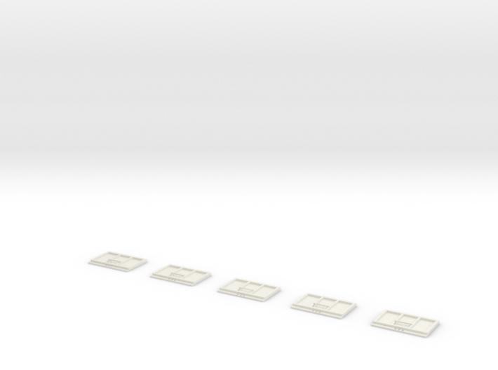 Set of 5 Rockin H end gates for grain beds 3d printed