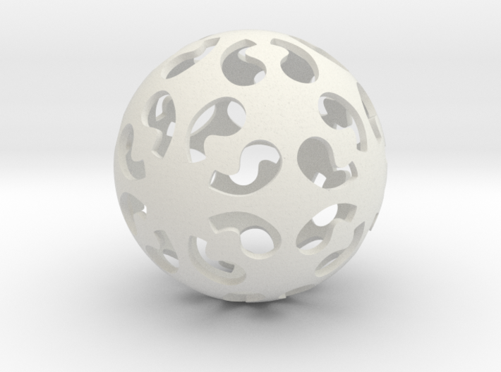 Comma symmetry sphere *432 (no markings) 3d printed