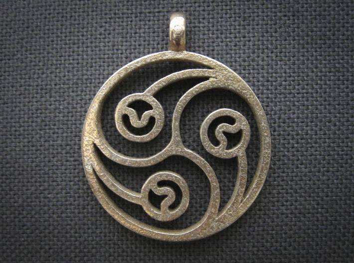 Trinity Pendant 3d printed Shown in Stainless Steel