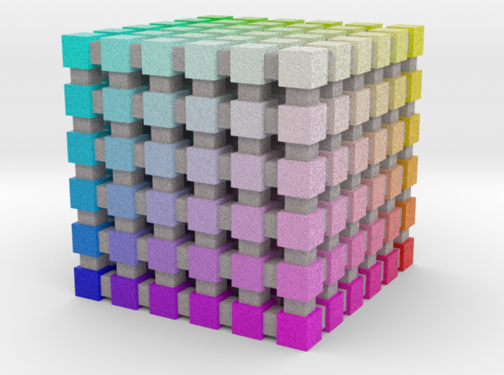 Web Safe Color Cube: 1 inch 3d printed