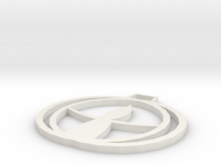 UU Chalice Pendant 3d printed