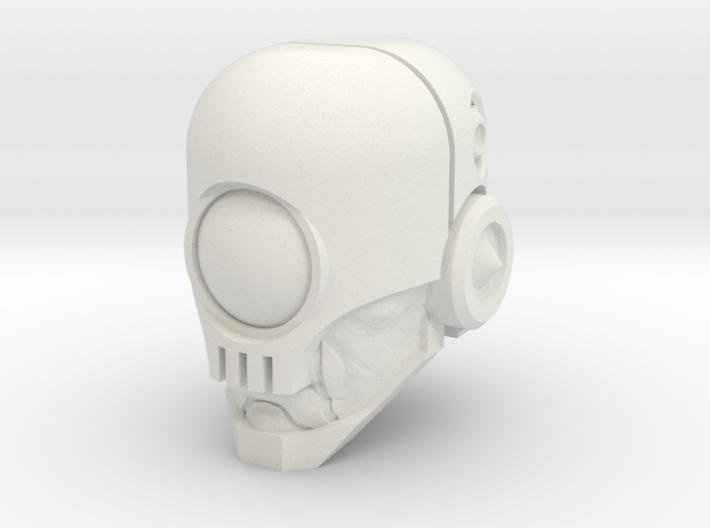 """Skullgrin v2"" custom 1:6th scale head 3d printed"