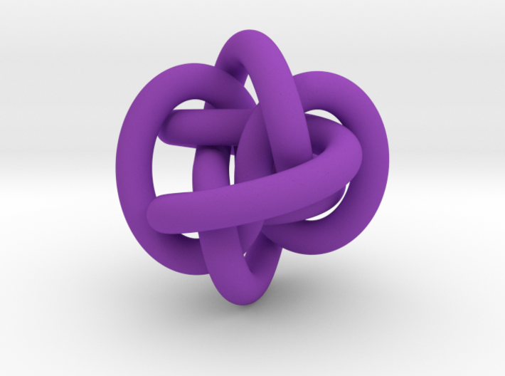 Triple Infinity Pendant Large 3d printed