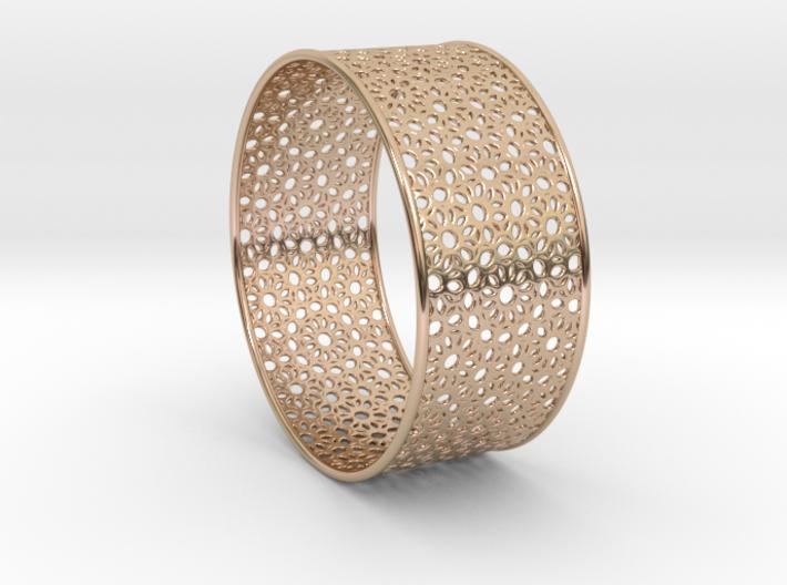 7cm Bracelet Flower Pattern Flat 3d printed