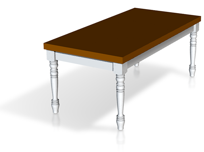 1:48 Quarter Scale French Country Dining Table 1 3d printed