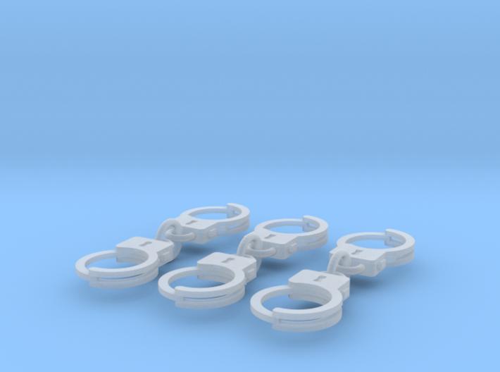 Miniature handcuffs 3d printed