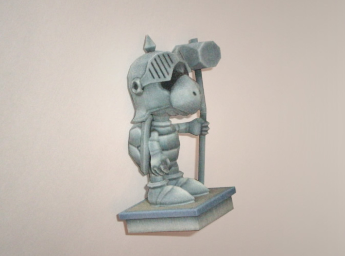 Turtle Knight Statue 3d printed Mine broke in the mail, so I have since improved the model to prevent this.