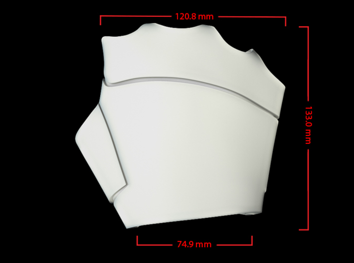 Iron Man Right Palm (XLarge) 3d printed CG Render (Top Measurements)