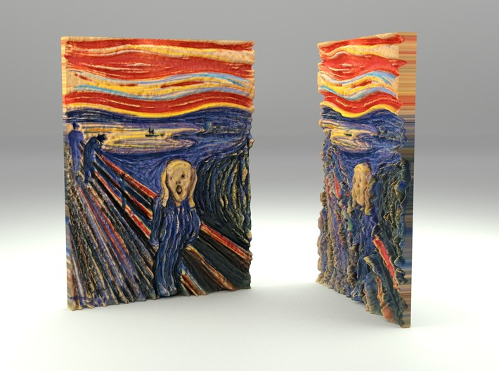 The Scream (Edward Munch) 3d printed Full Color Sandstone