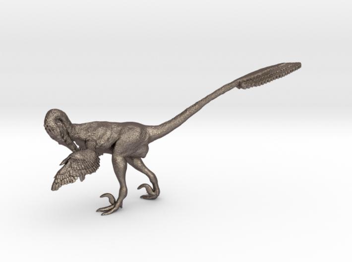 1:12 scale Preening Velociraptor Steel 3d printed