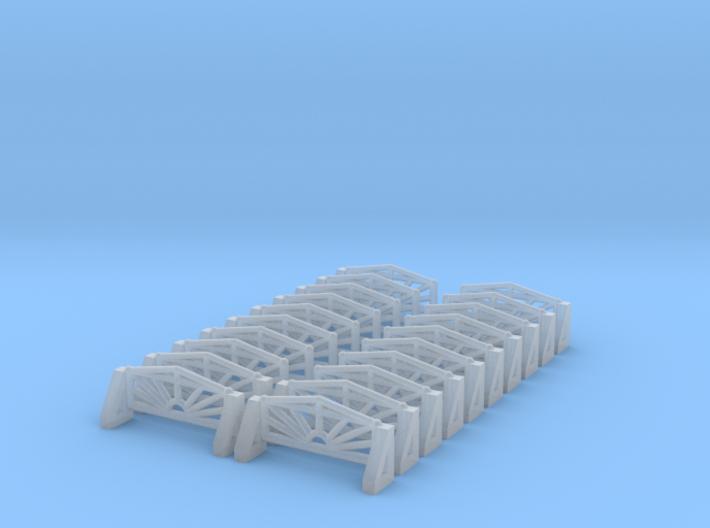 Eingangszaun 2 - 1:220 (Z scale) 3d printed