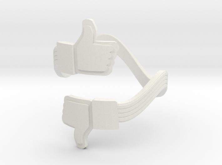Social Link Ring 6 3d printed