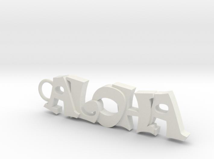Keychain Aloha 2 3d printed