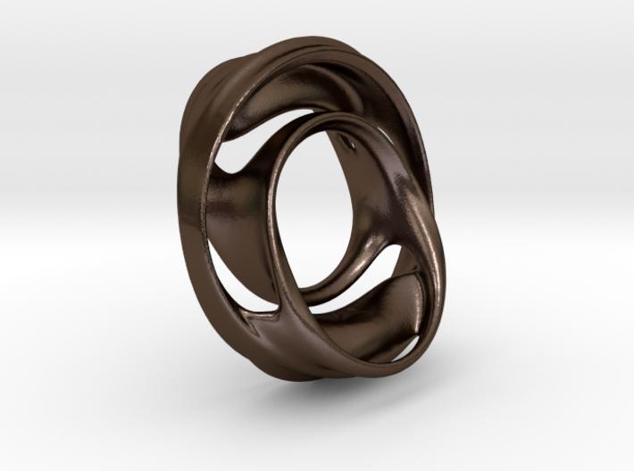 Julia Set Pendant no.4 (steel) 3d printed