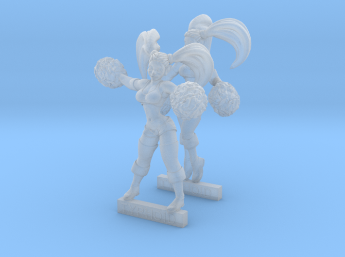 Cheerleader Twins 3d printed