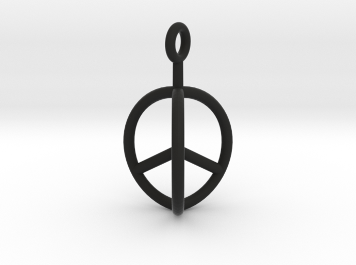 3D Peace Mark 3d printed