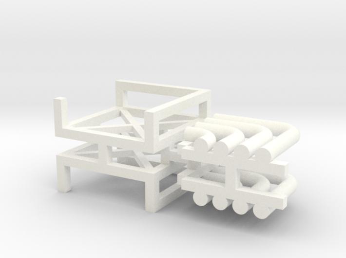 N Pipe Rack Corner 90° 2pc 3d printed