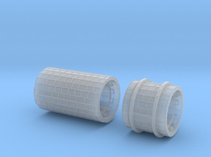 SET Row paving with border (H0e) 3d printed