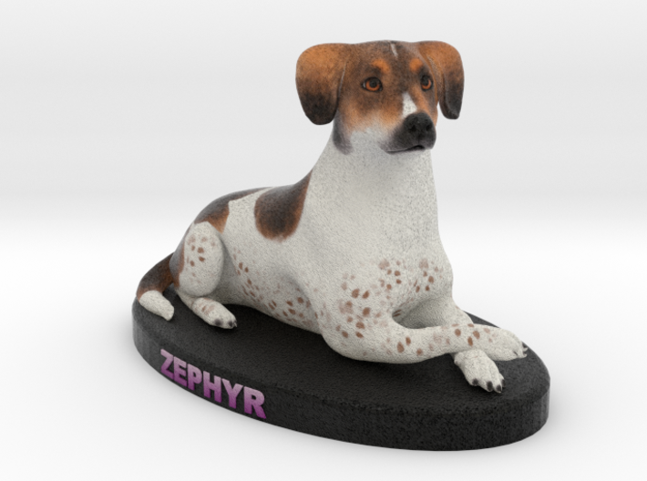 Custom Dog Figurine - Zephyr 3d printed