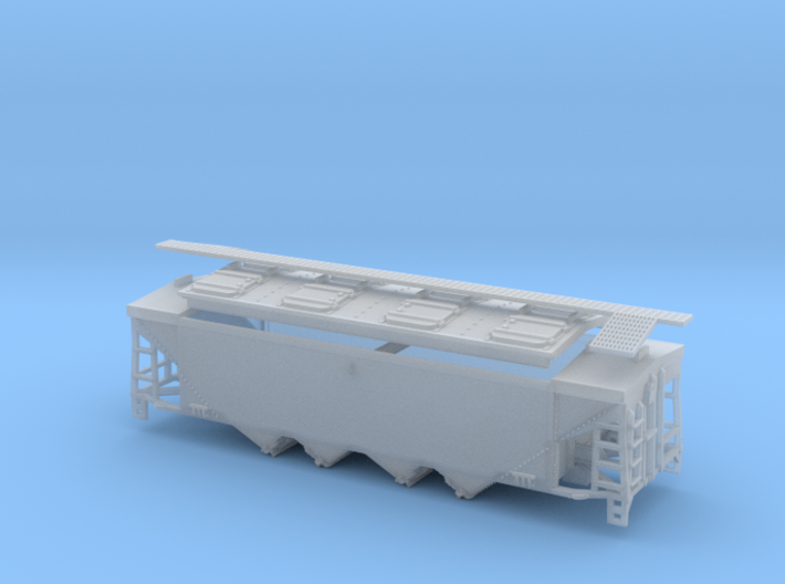 U10 / P9 N Scale Original Style Roof with Roofwalk 3d printed