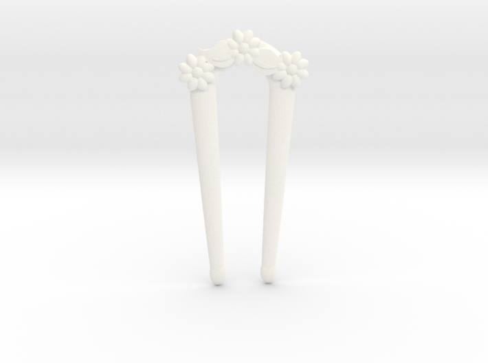 Hairfork Flower Arch 10cm hair fork 3d printed