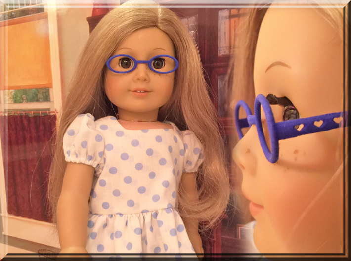 Glasses for 18 Inch Doll 3d printed