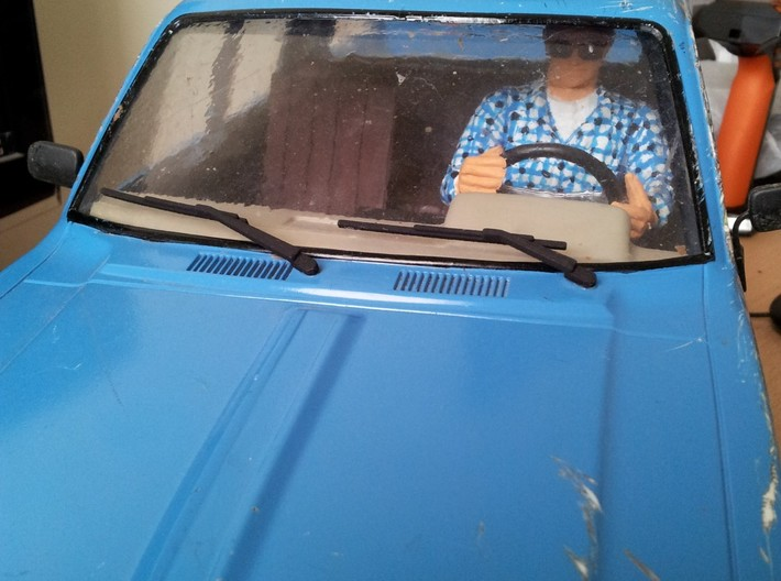 Wipers for Tamiya bruiser / Hilux 3d printed