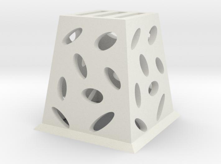 Planter (Square) - 3Dponics  3d printed
