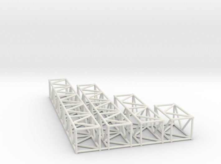 "16""sq Box Truss Sampler 1:48 3d printed"